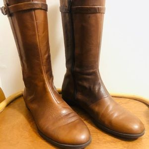 NINE WEST leather Two Tone Boots ~ Size : 6.5 M